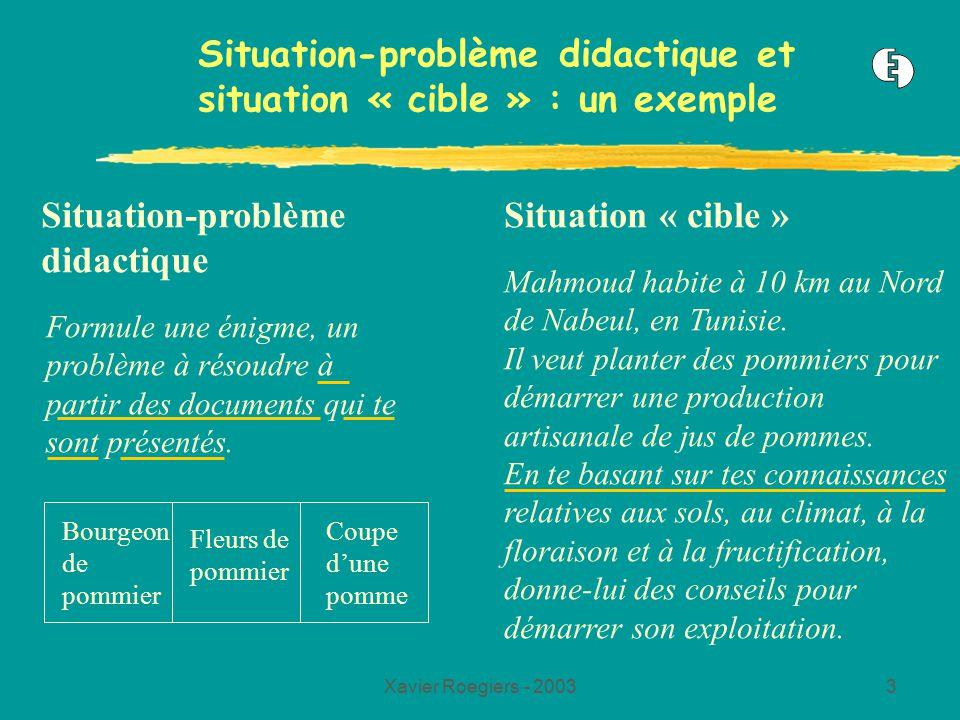 Situation-problème didactique et situation « cible » : un exemple