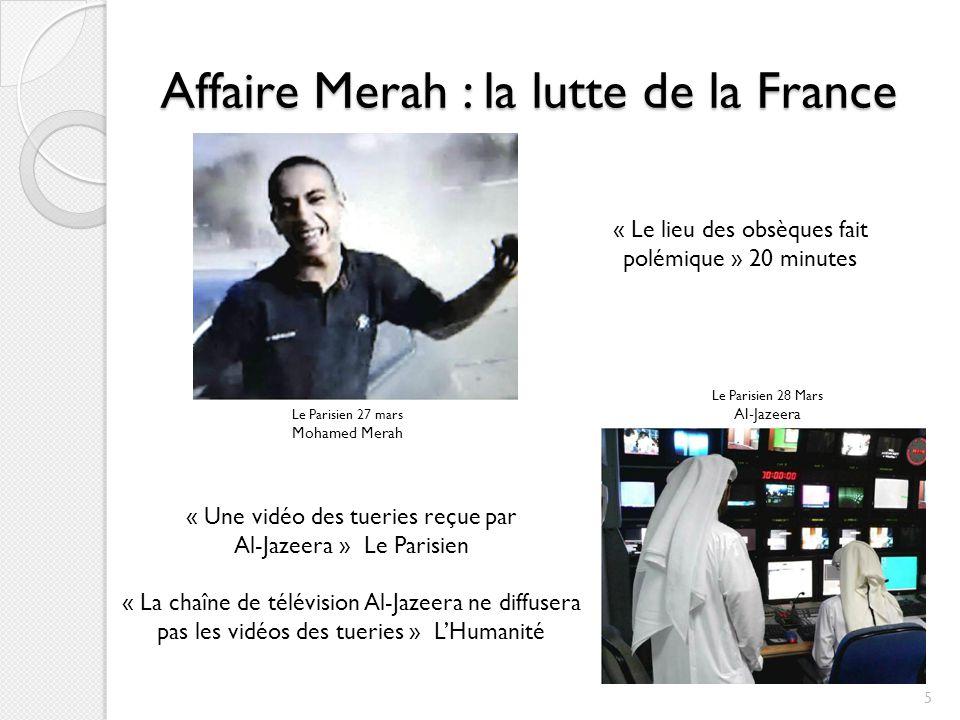 Affaire Merah : la lutte de la France