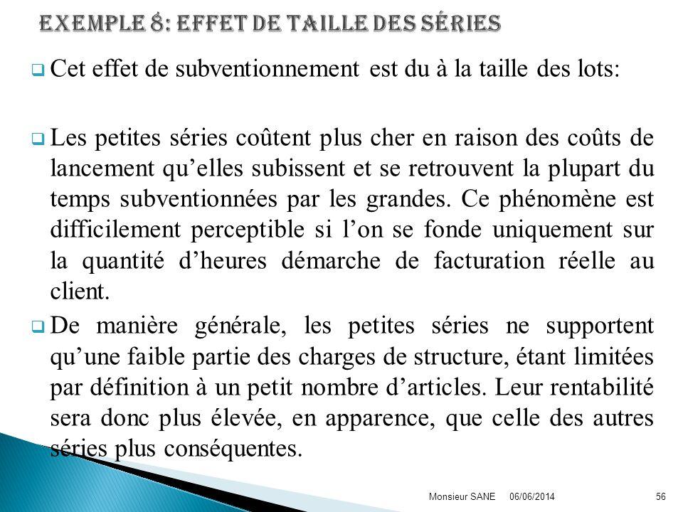 EXEMPLE 8: effet de taille des séries