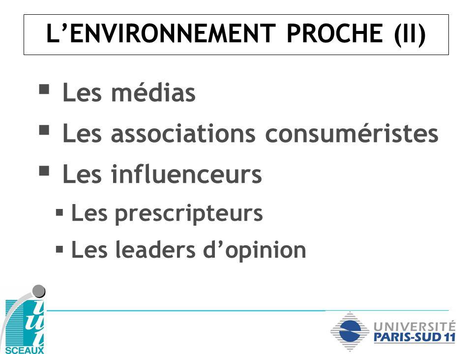 L'ENVIRONNEMENT PROCHE (II)