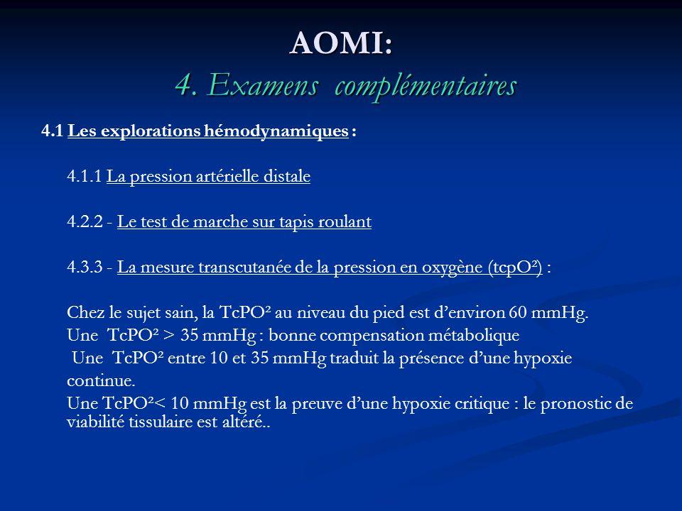 AOMI: 4. Examens complémentaires