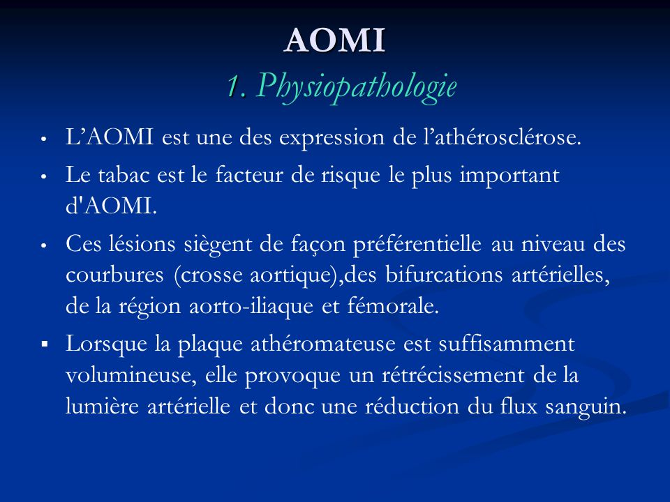 AOMI 1. Physiopathologie