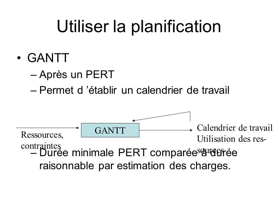 Utiliser la planification