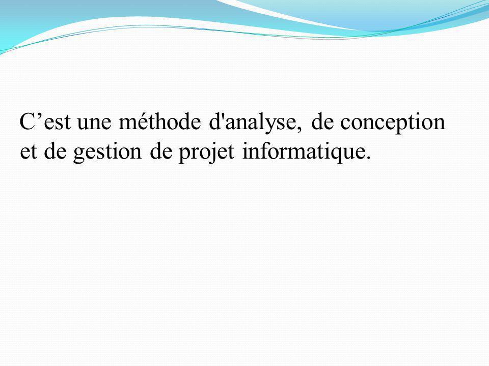 C'est une méthode d analyse, de conception et de gestion de projet informatique.