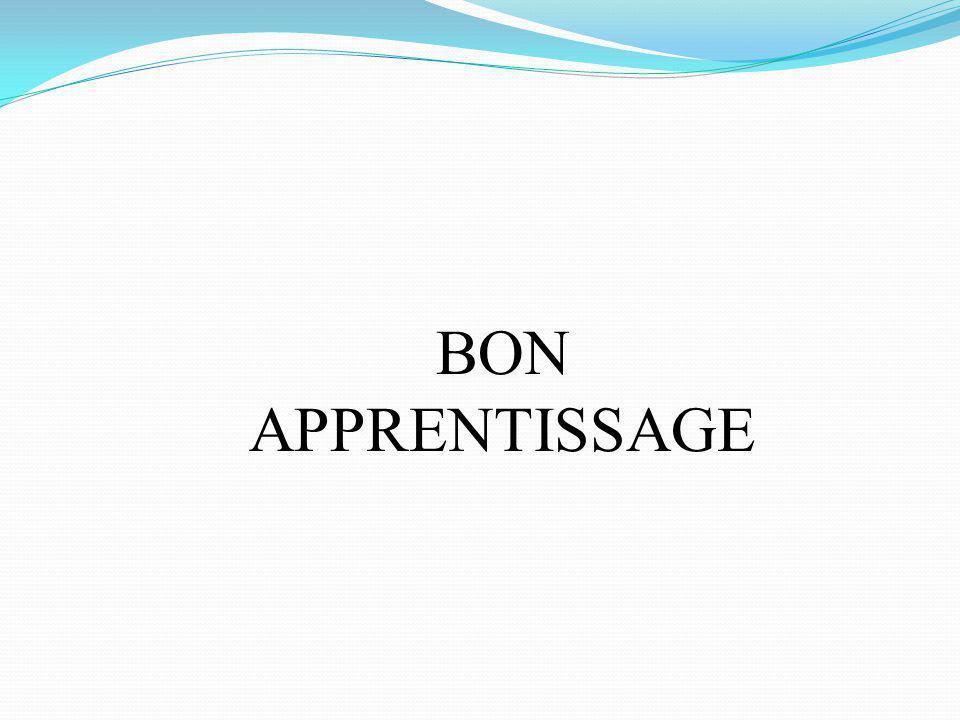 BON APPRENTISSAGE M.Youssfi : med@youssfi.net