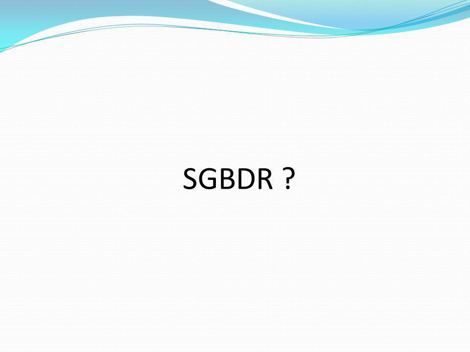 SGBDR M.Youssfi : med@youssfi.net
