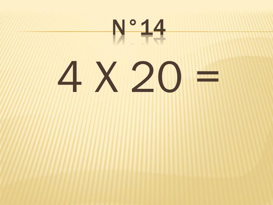 n°14 4 X 20 = 80