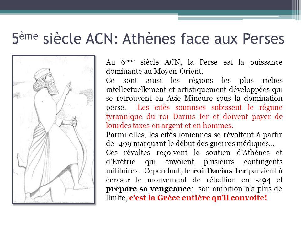 5ème siècle ACN: Athènes face aux Perses