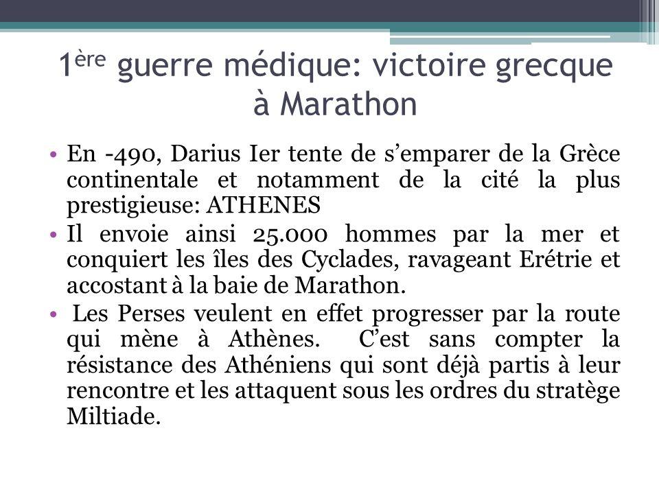 1ère guerre médique: victoire grecque à Marathon