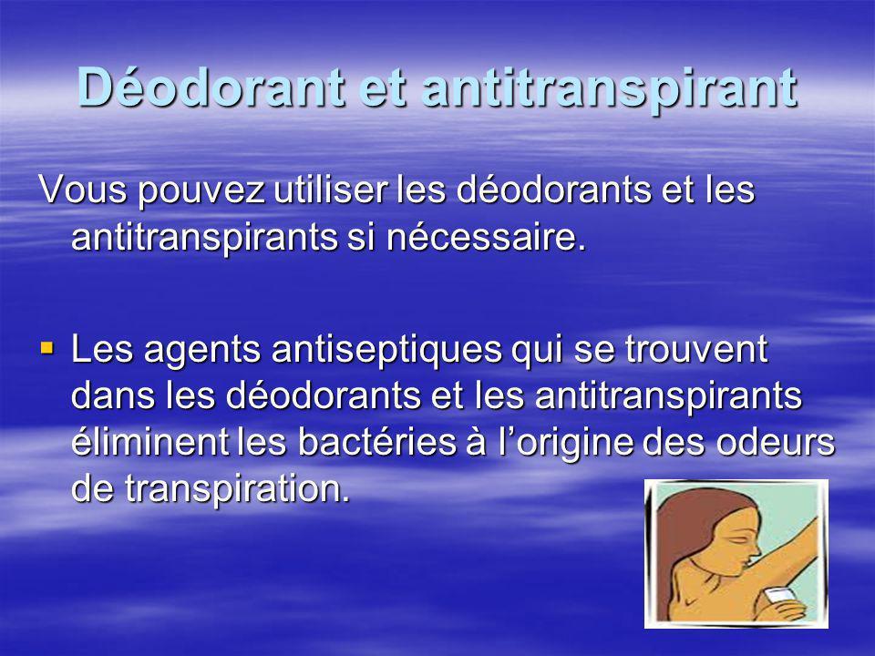 Déodorant et antitranspirant