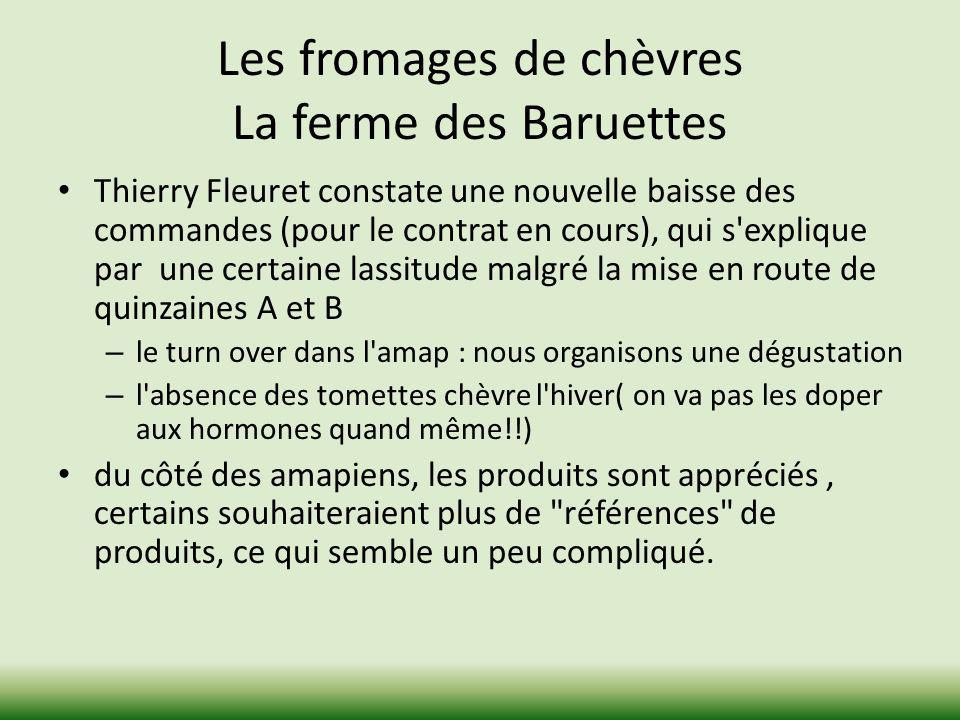 Les fromages de chèvres La ferme des Baruettes