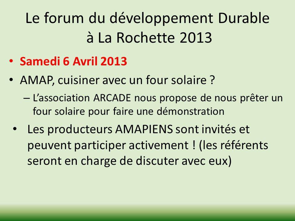 Le forum du développement Durable à La Rochette 2013