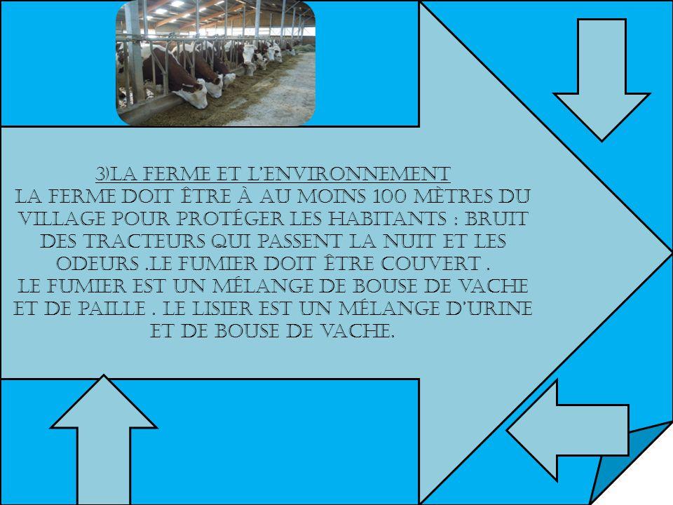 3)La ferme et l'environnement