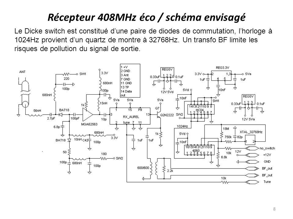 Récepteur 408MHz éco / schéma envisagé