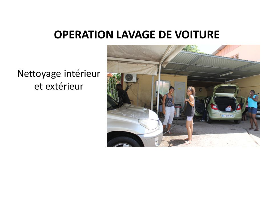 Operation lavage de voiture ppt t l charger for Lavage interieur voiture