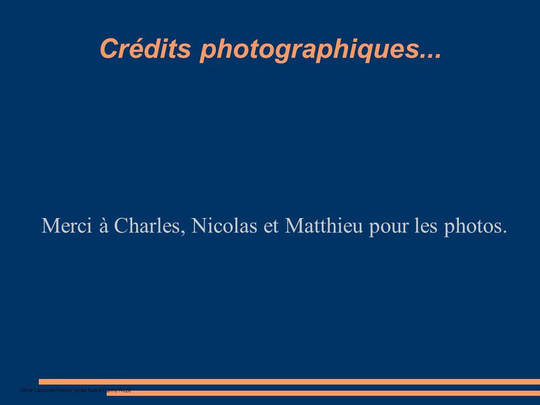 Crédits photographiques...