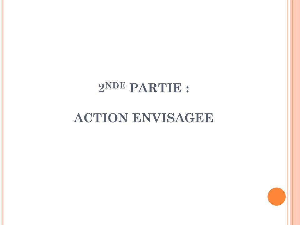 2nde PARTIE : ACTION ENVISAGEE