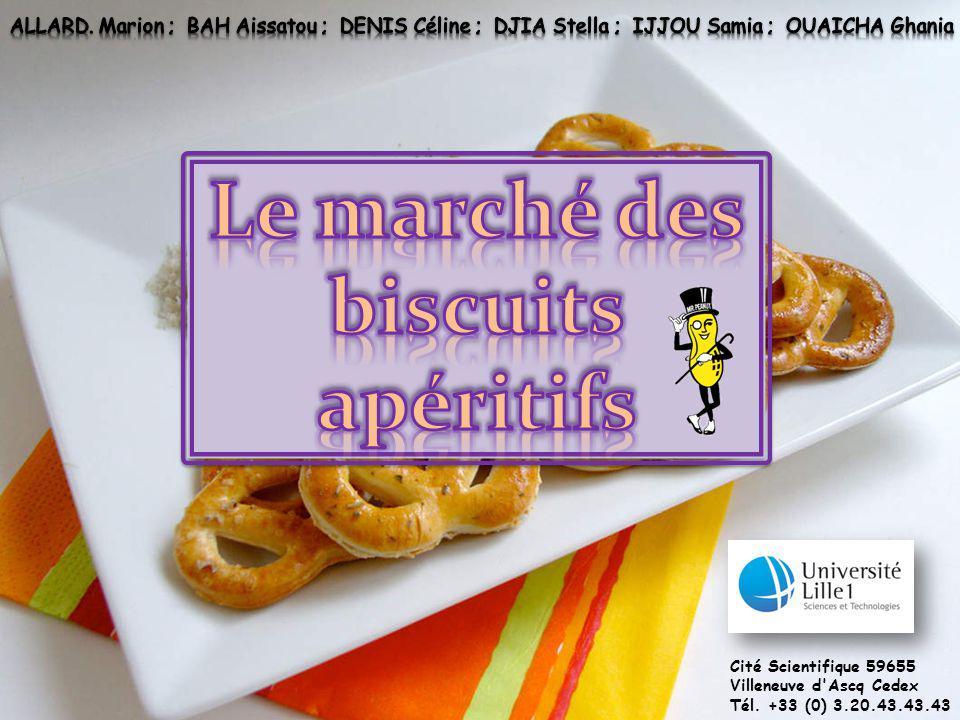 Le marché des biscuits apéritifs