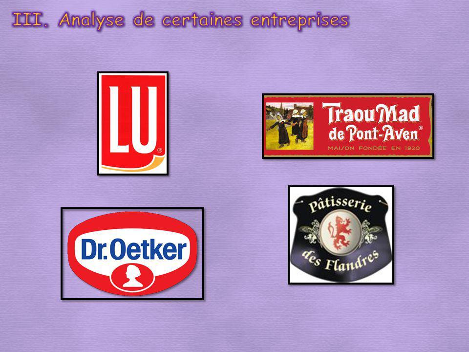 III. Analyse de certaines entreprises