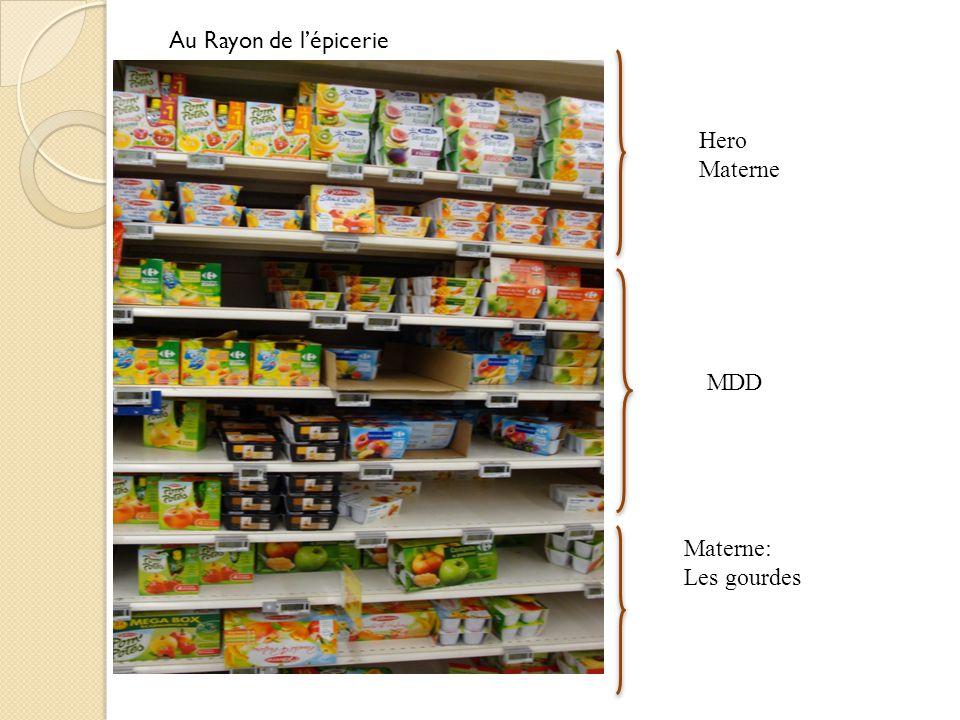 Au Rayon de l'épicerie Hero Materne MDD Materne: Les gourdes