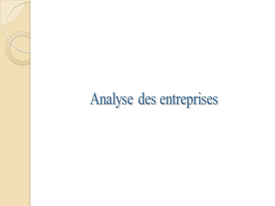 Analyse des entreprises