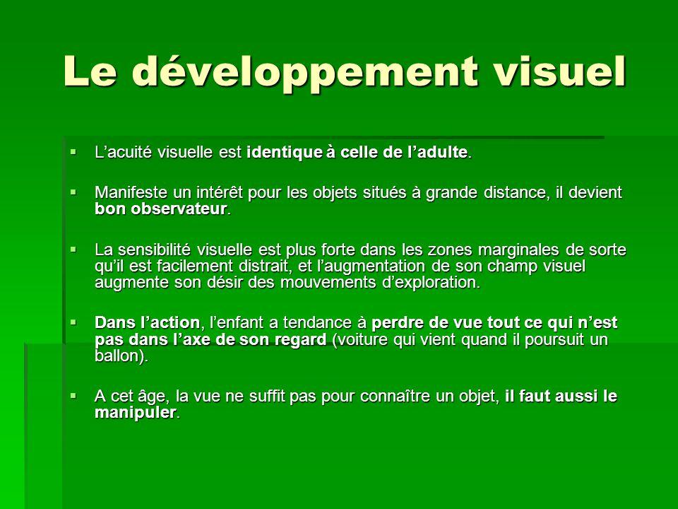 Le développement visuel