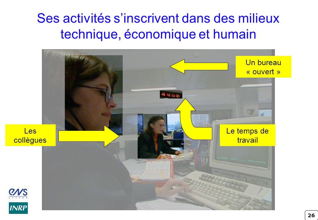 Ses activités s'inscrivent dans des milieux technique, économique et humain