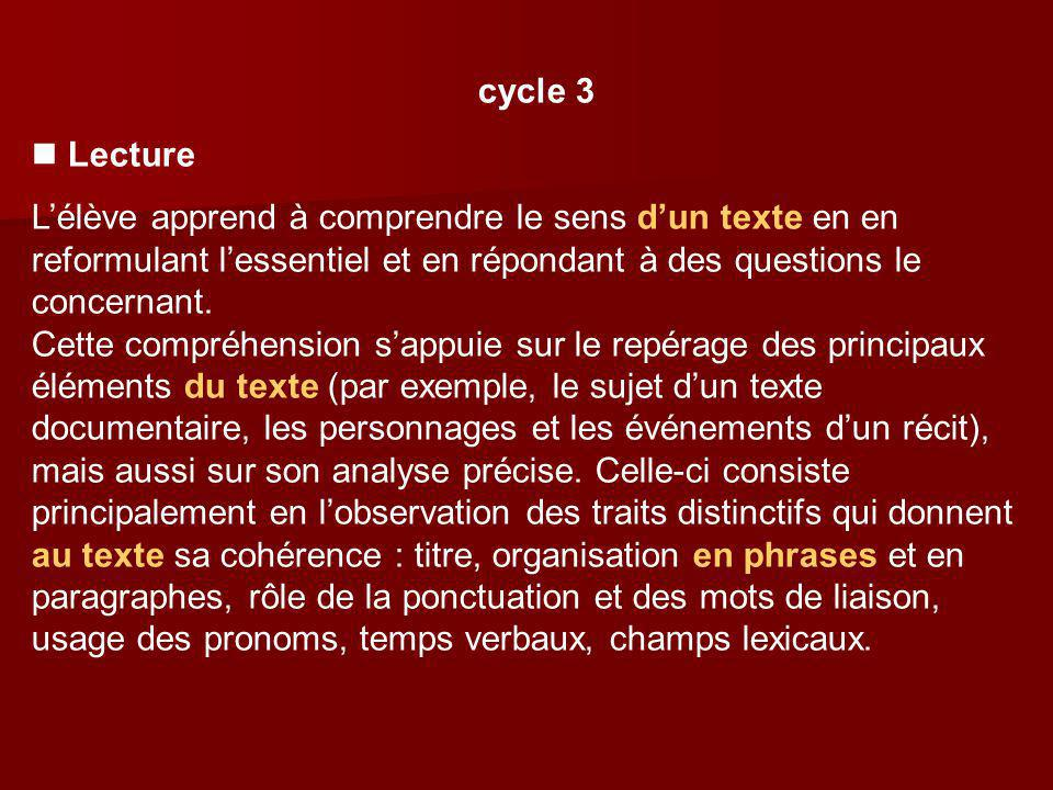 cycle 3  Lecture.