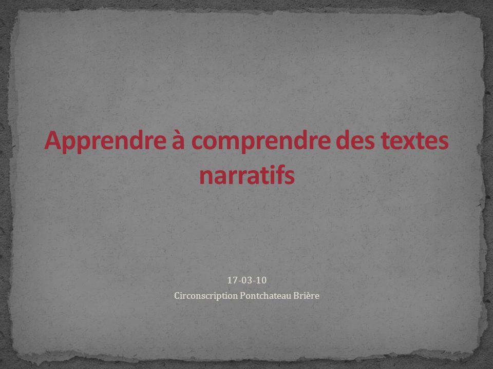 Apprendre à comprendre des textes narratifs