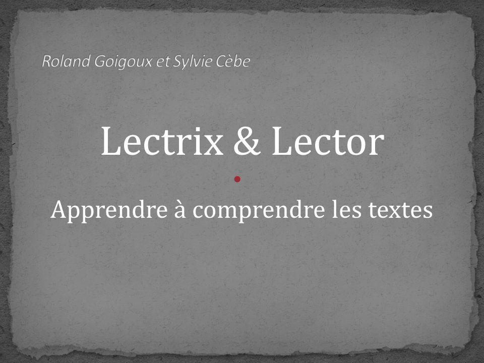 Roland Goigoux et Sylvie Cèbe