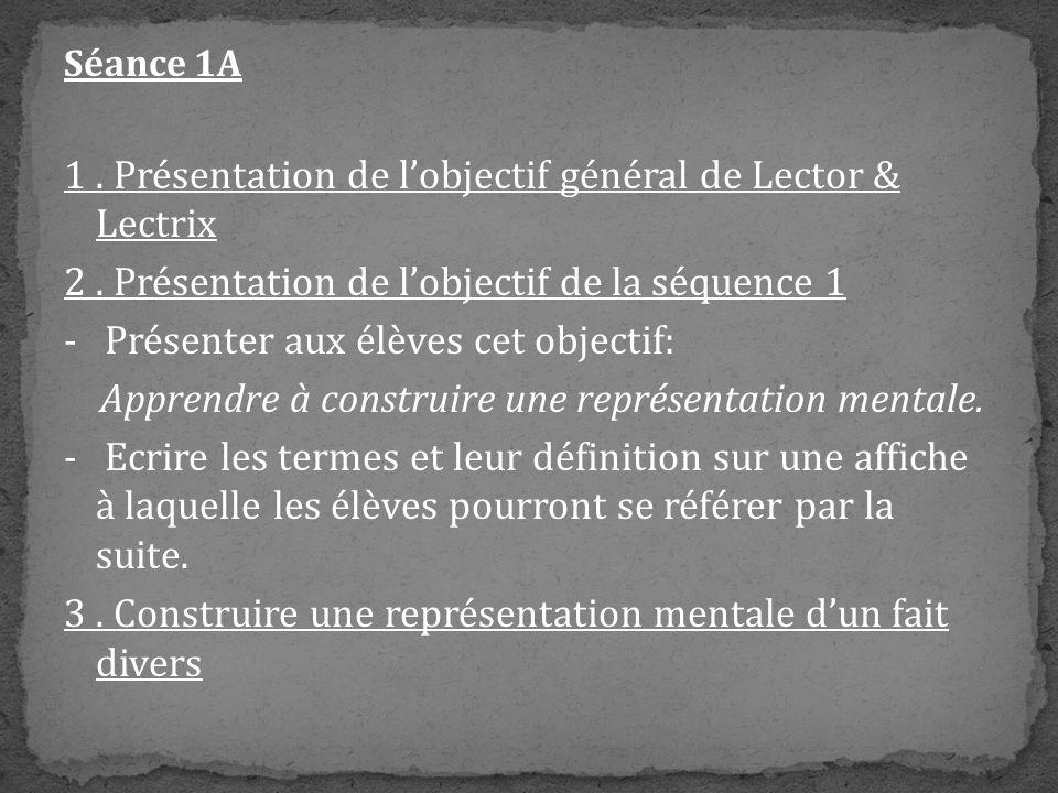 1 . Présentation de l'objectif général de Lector & Lectrix