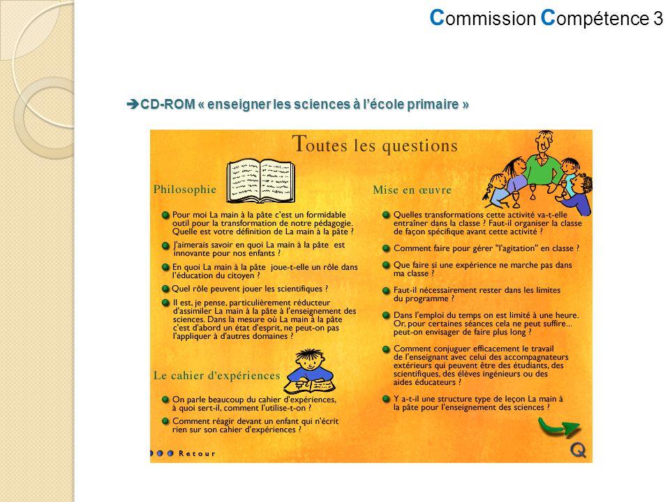 CD-ROM « enseigner les sciences à l'école primaire »