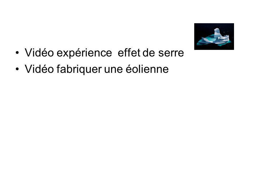 Vidéo expérience effet de serre