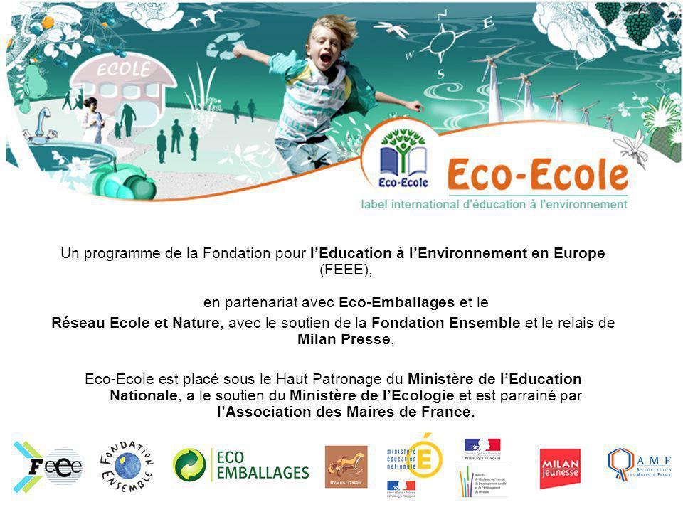 Un programme de la Fondation pour l'Education à l'Environnement en Europe (FEEE), en partenariat avec Eco-Emballages et le