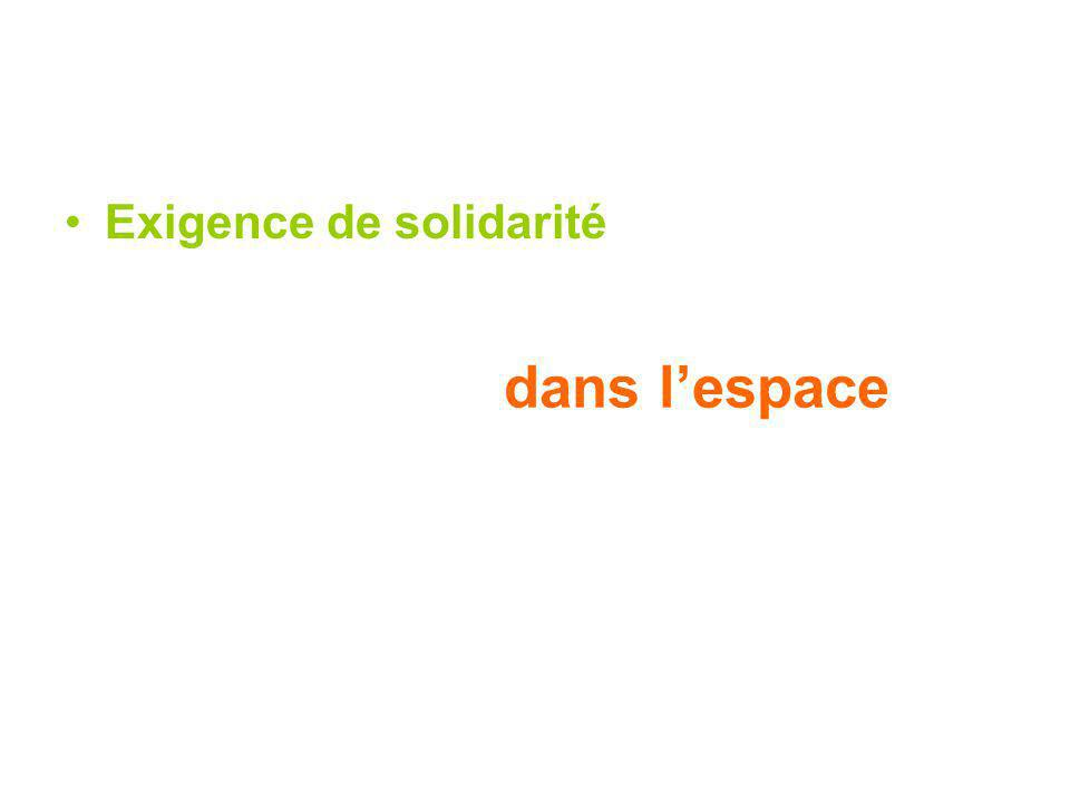 Exigence de solidarité