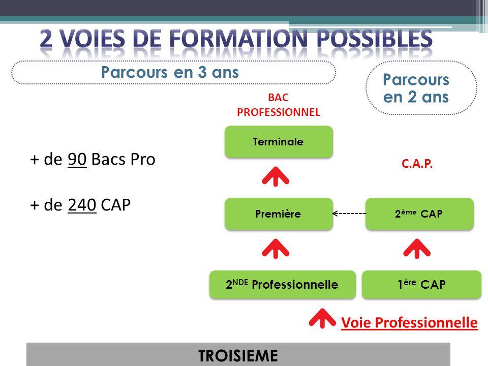 2 VOIES DE FORMATION POSSIBLES