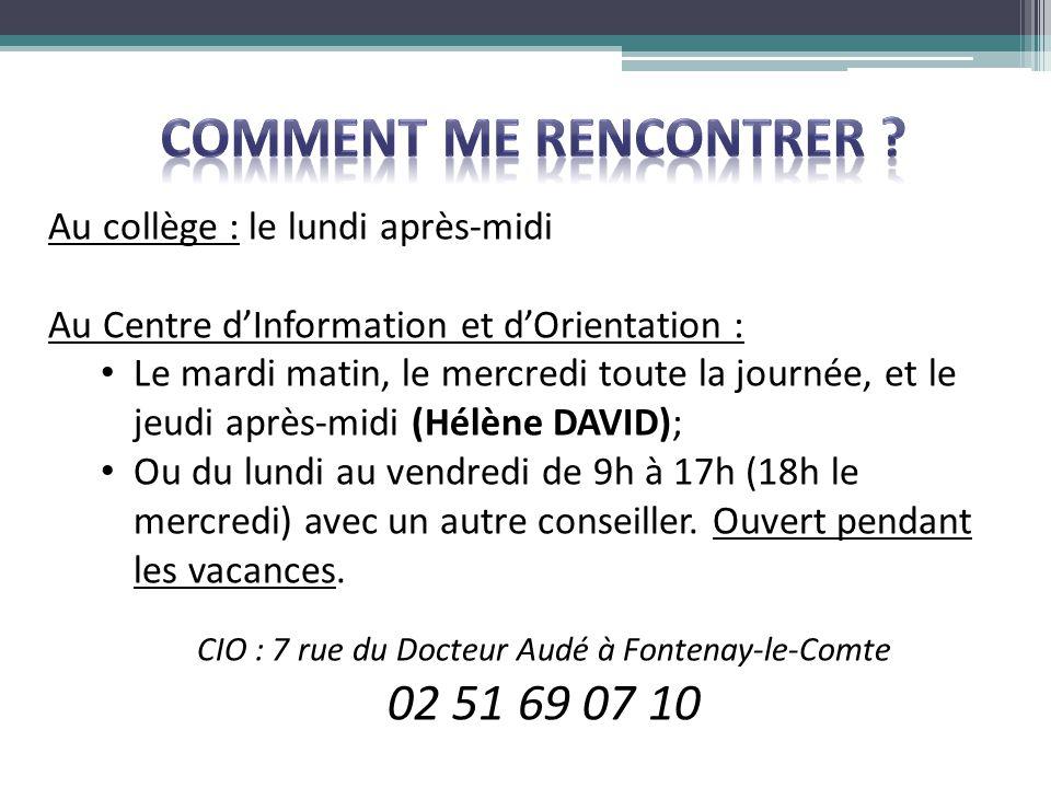 CIO : 7 rue du Docteur Audé à Fontenay-le-Comte