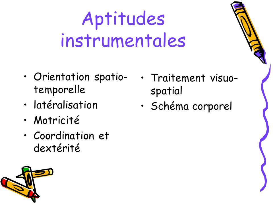 Aptitudes instrumentales