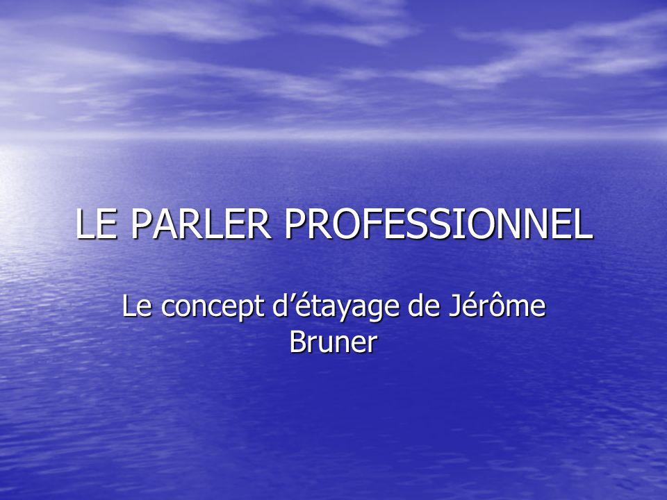 LE PARLER PROFESSIONNEL