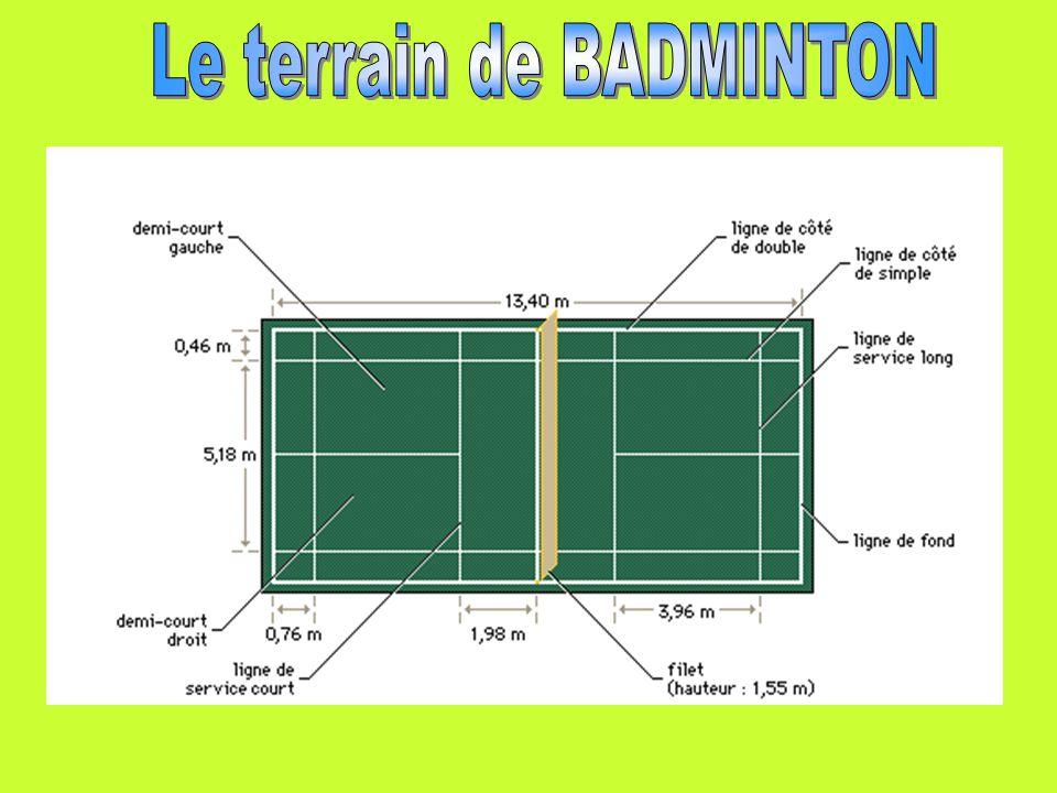 Le terrain de BADMINTON