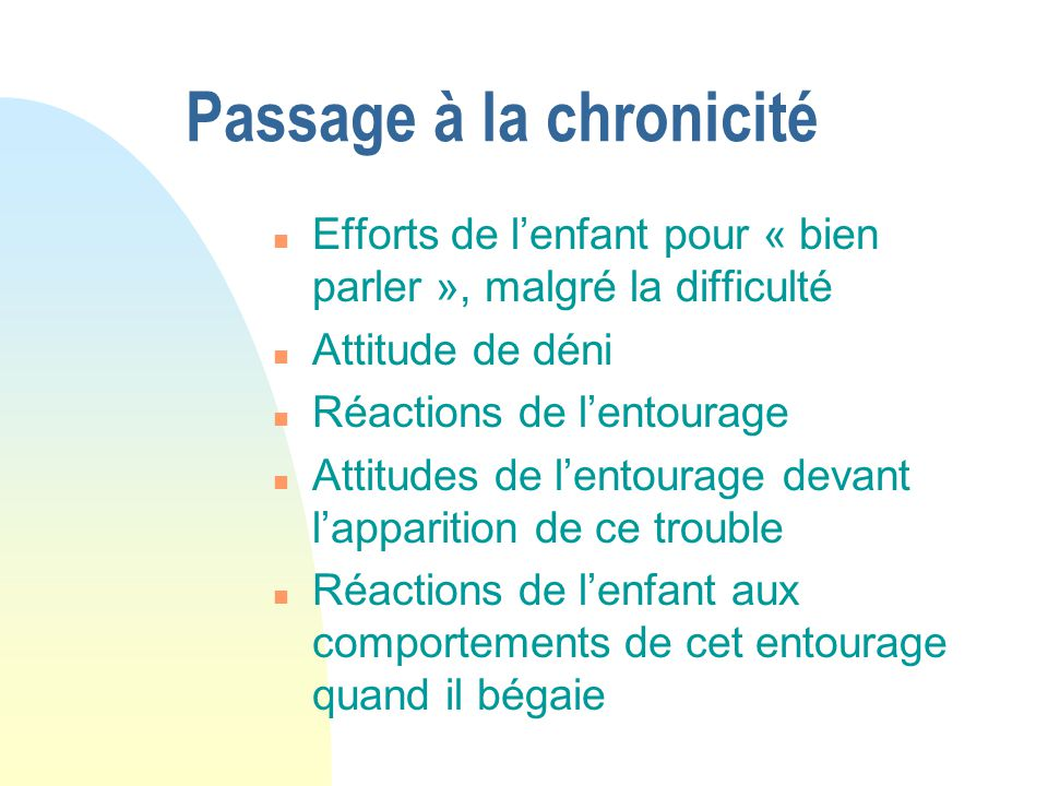 Passage à la chronicité