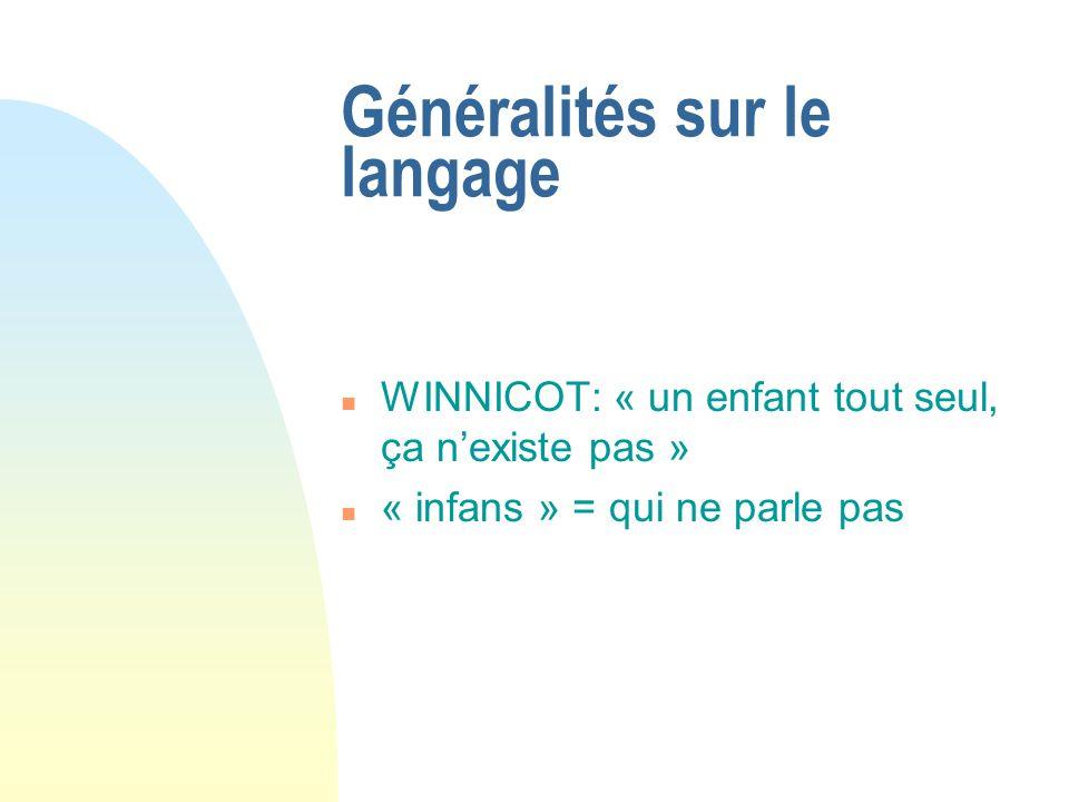 Généralités sur le langage