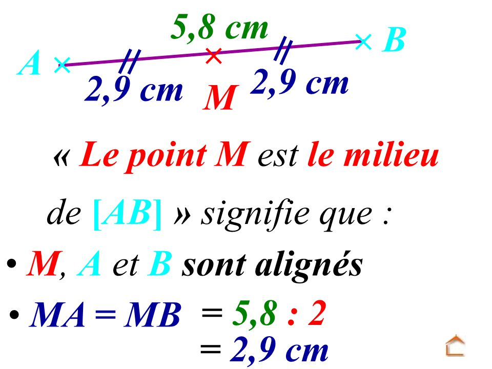 « Le point M est le milieu