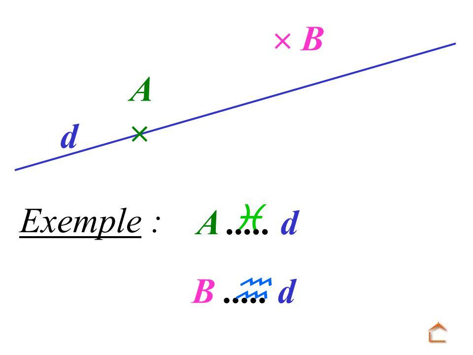  B A  d Exemple :  A ..... d B ..... d 