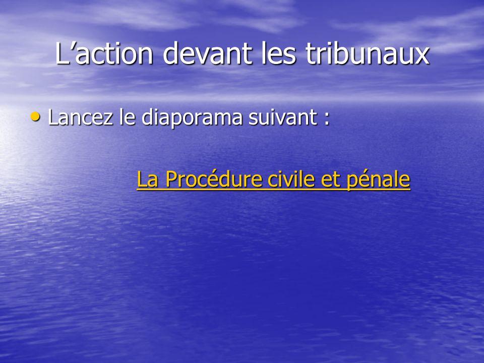 L'action devant les tribunaux