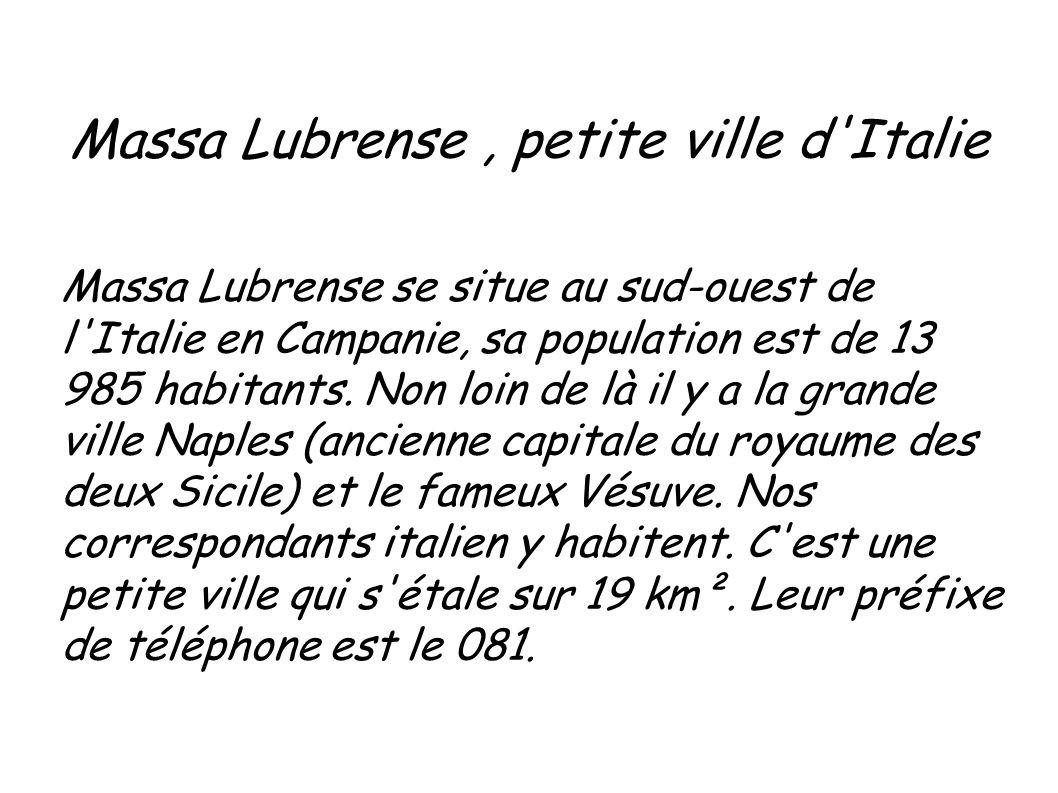 Massa Lubrense , petite ville d Italie