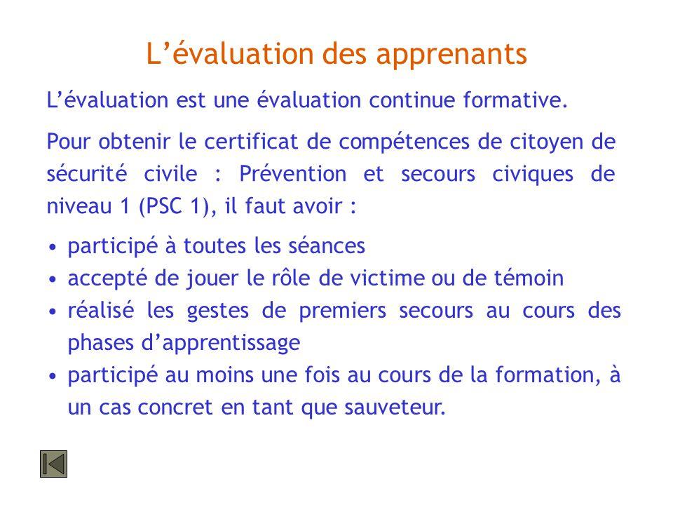 L'évaluation des apprenants