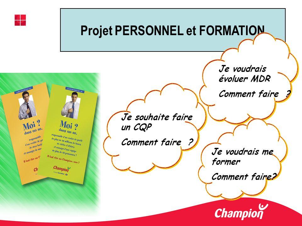 Projet PERSONNEL et FORMATION