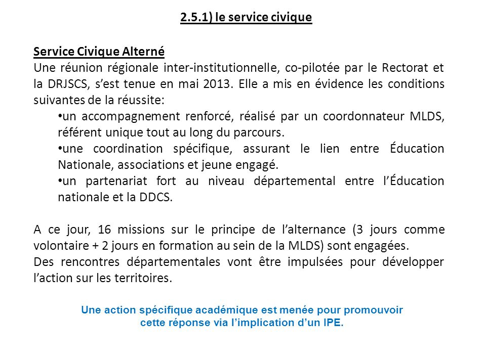 Service Civique Alterné