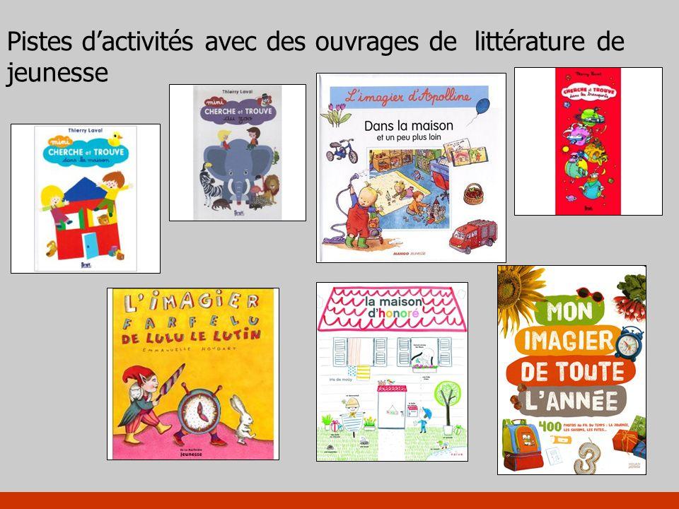 Pistes d'activités avec des ouvrages de littérature de jeunesse